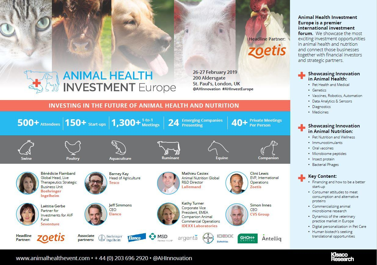 Animal Health Investment Europe, cover